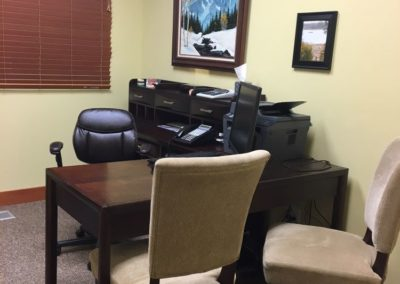Our consultation room gives a private place to discuss your treatment options.